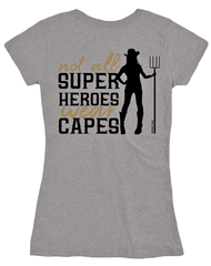 Farm Girl Super Heroes Short Sleeve Tee