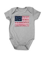 Newborn Farm Boy Paisley Flag Creeper