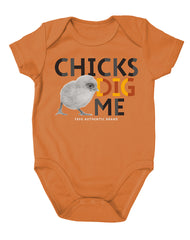 Newborn Farm Boy Chicks Dig Me Bodysuit