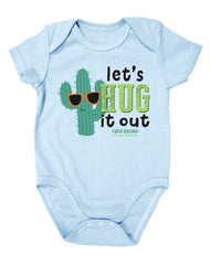 Newborn Farm Boy Let's Hug It Out Bodysuit