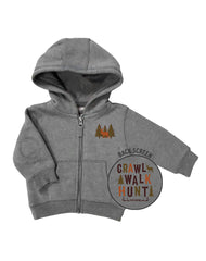 Newborn Farm Boy Crawl Walk Hunt Zip Hoodie