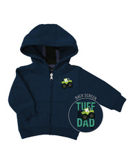 Newborn Farm Boy Tuff Like Dad Hoodie