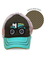 Newborn/Toddler/Boys Farm Boy Tractor Mesh Cap