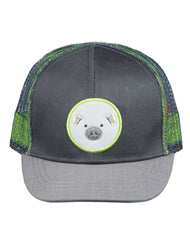 Newborn/Boys Farm Boy Pig Patch Mesh Cap
