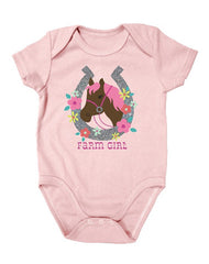 Newborn Farm Girl Horseshoe Creeper