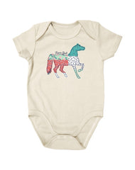 Newborn Farm Girl Multi Pattern Horse Creeper