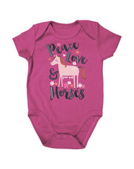 Newborn Farm Girl Peace Love & Horses Creeper