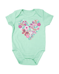 Newborn Farm Girl Pretty Heart Creeper