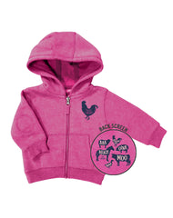 Newborn Farm Girl Animal Sounds Hoodie