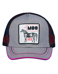 Newborn/Girls Farm Girl Moo Horse Mesh Cap