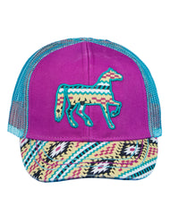 Newborn/Girls Farm Girl Aztec Horse Mesh Cap