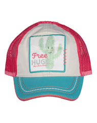 Newborn/Girls Farm Girl Free Hugs Mesh Cap