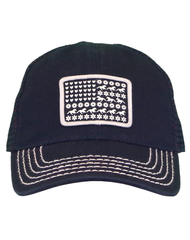 Infant/Toddler/Girls Farm Girl Flag Mesh Cap