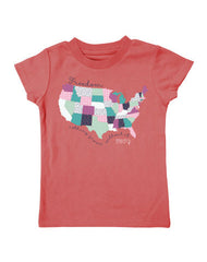 Infant/Toddler Farm Girl Patterned USA Tee