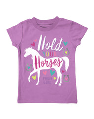 Infant/Toddler Farm Girl Hold Your Horses Tee
