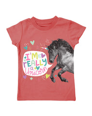 Infant/Toddler Farm Girl I'm Really A unicorn Tee