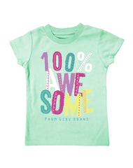 Infant/Toddler Farm Girl 100% Awesome Tee