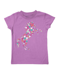 Infant/Toddler Farm Girl Rearing Horse Hearts Tee