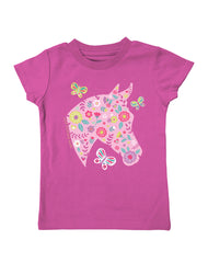 Infant/Toddler Farm Girl Floral Horse Tee