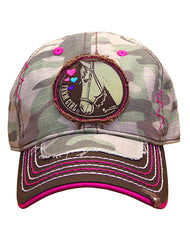 Infant/Toddler/Girls Farm Girl Camo Horse Cap