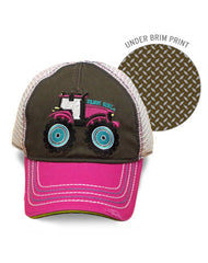 Newborn/Infant/Toddler/Girls Farm Girl Tractor Mesh Cap