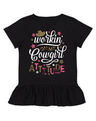 Toddler Farm Girl Cowgirl Attitude Tee