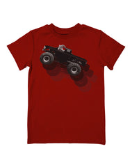 Boys 4-7 Farm Boy Rearing Truck Tee