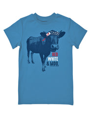 Boys 4-7 Farm Boy Red, White, & Moo Tee