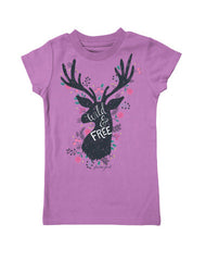 Girls 4-6X Farm Girl Wild & Free Tee