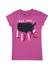 Girls 4-6X Farm Girl Land that I Love Tee