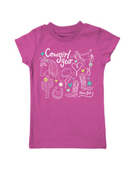 Girls 4-6X Farm Girl Cowgirl Gear Tee