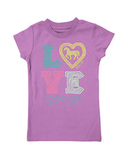 Girls 4-6X Farm Girl Love At First Ride Tee