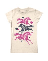 Girls 4-6X Farm Girl Running Horses Tee