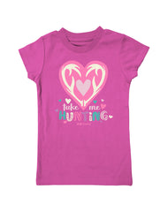 Girls 4-6X Farm Girl Take Me Hunting Tee