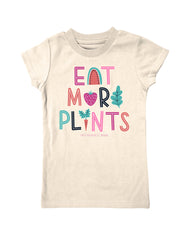 Girls 4-6X Farm Girl Eat More Plants Tee
