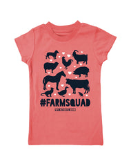 Girls 4-6X Farm Girl #Farmsquad Tee