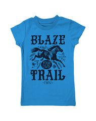 Girls 4-6X Farm Girl Blaze Your Own Trail Tee