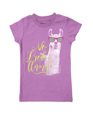 Girls 4-6X Farm Girl No Prob-Llama Tee