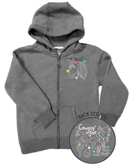 Girls 4-6X Farm Girl Cowgirl Gear Zip Hoodie