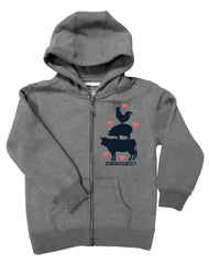 Girls 4-6X Farm Girl #Farmsquad Zip Hoodie