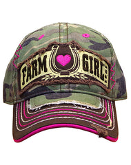 Infant/Toddler/Girls Farm Girl Lucky Heart Cap