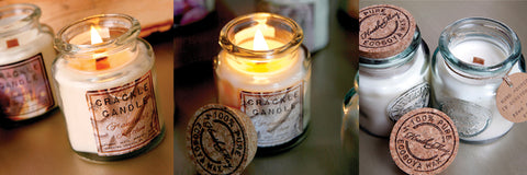 eco crackle soy wax candles