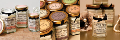 french inspired soy wax candle collection