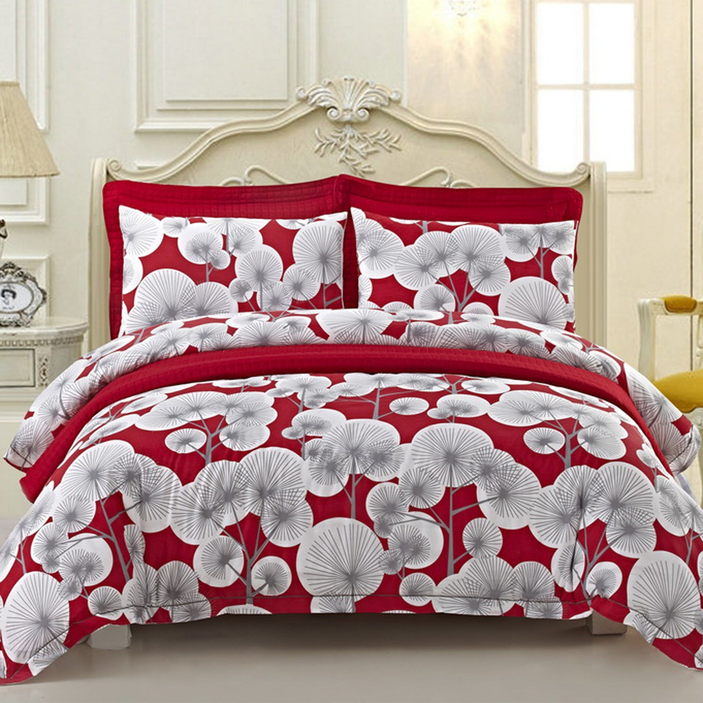 Patricia Red 6-Piece Duvet Cover Quilt Set