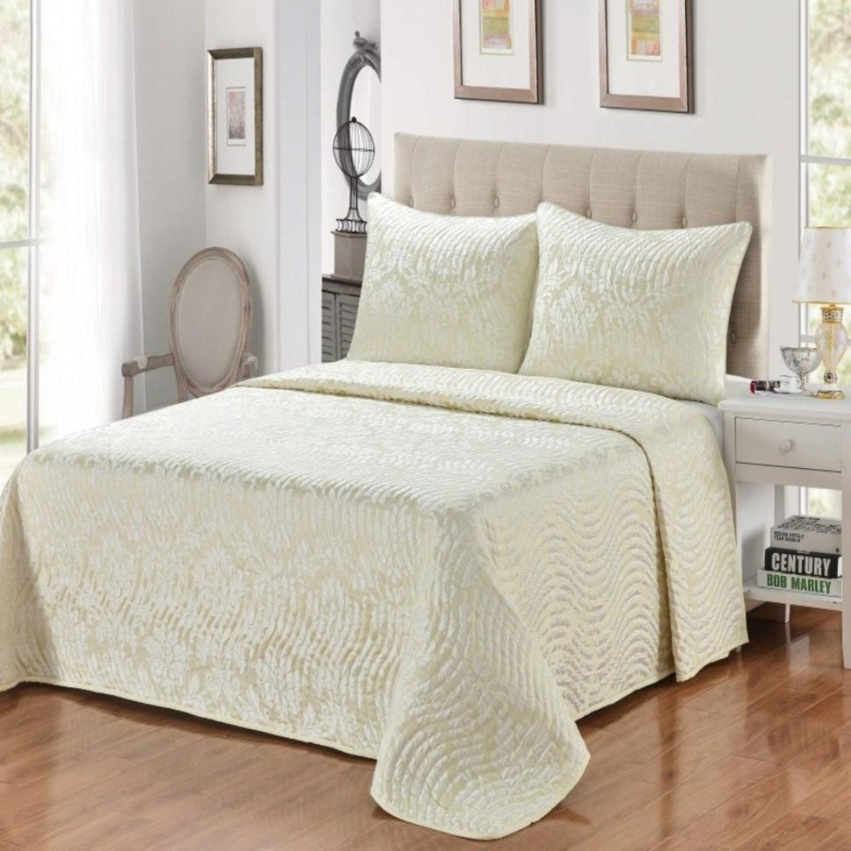 Renee 3-Piece Jacquard Bedspread Set