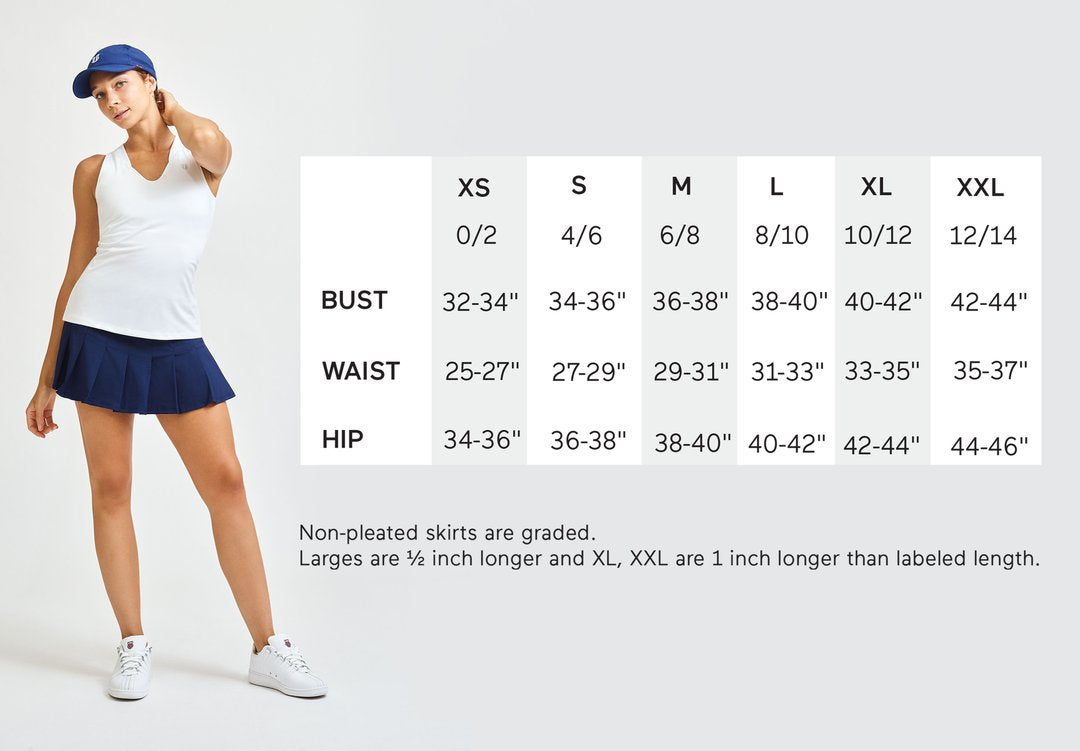 EleVen by Venus sizing chart