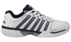 03379-167-M | HYPERCOURT EXPRESS LEATHER | WHITE/NAVY/SILVER