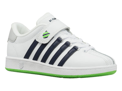53446-939-M | LITTLE KIDS CLASSIC VN VLC | WHITE/NAVY/LIME GREEN