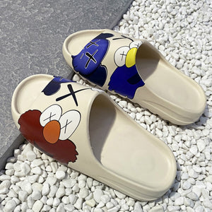 apanzu Summer Luxury Slide women Shoes Slippers Indoor House Slides Graffiti Beach Slipper Injection Cartoon Shoes yeeze slides