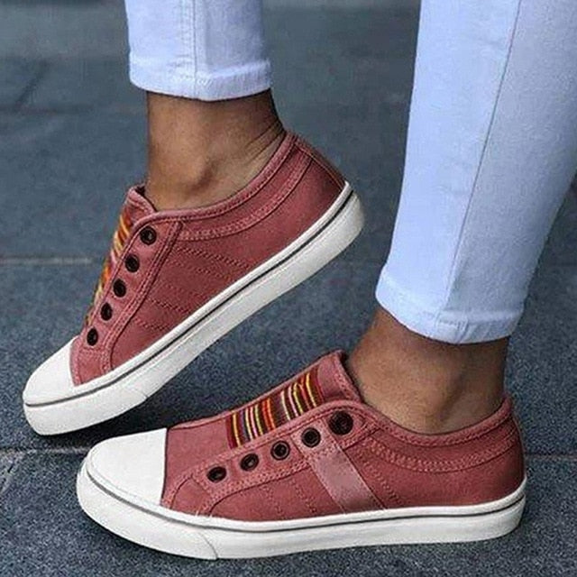 Low-cut Trainers Canvas Flat Shoes Women Casual Vulcanize Shoes 2020 New Women Summer Autumn Sneakers Ladies